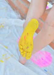 Danielle FTV Cute Color Bodypainting Picture 15