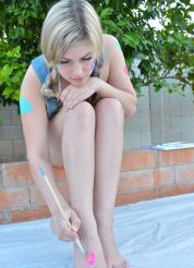 Danielle FTV Cute Color Bodypainting Picture 6